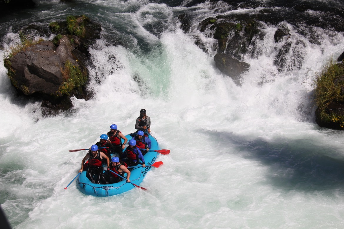 Rafting over Husum Falls