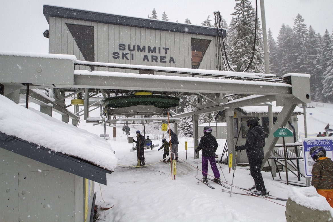 The lift at Summit Ski Area.