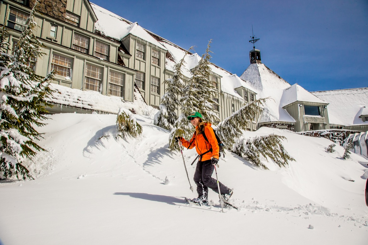Snowshoeing at Timberline Lodge